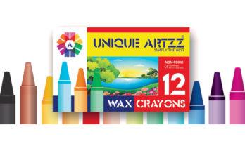12 Wax Crayons 57 mm