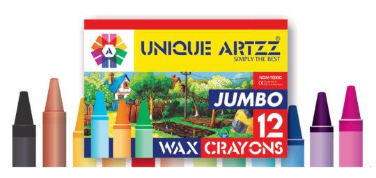 12 Wax Crayons Jambo